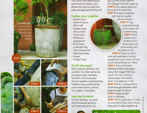 Step by Step. How To Make a Self Watering Pot